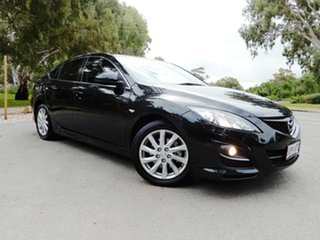 2012 Mazda 6 GH1052 MY12 Touring Black 5 Speed Sports Automatic Hatchback.