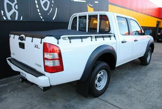 2008 Ford Ranger PJ XL Crew Cab 4x2 Hi-Rider Cool White 5 Speed Automatic Utility.