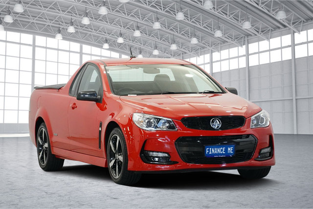 Used Holden Ute VF II MY16 SV6 Ute Black, 2016 Holden Ute VF II MY16 SV6 Ute Black Red 6 Speed Sports Automatic Utility