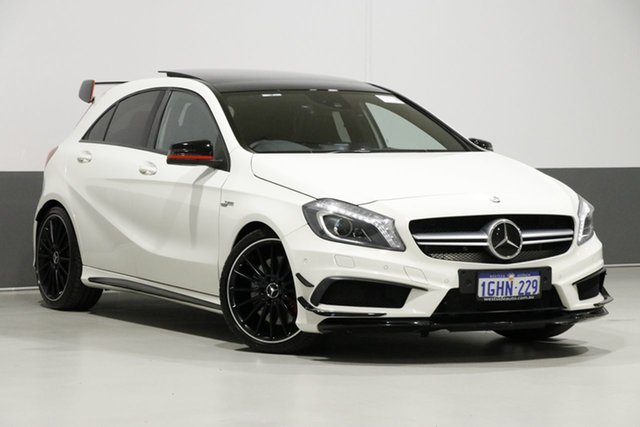 Used Mercedes-Benz A45 176 AMG, 2013 Mercedes-Benz A45 176 AMG White 7 Speed Auto Dual Clutch Hatchback