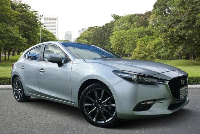 Used Mazda 3 BN5438 SP25 SKYACTIV-Drive Astina, 2018 Mazda 3 BN5438 SP25 SKYACTIV-Drive Astina Silver 6 Speed Sports Automatic Hatchback