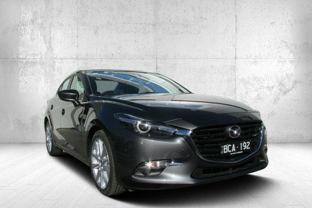Demo Mazda 3 BN5238 SP25 SKYACTIV-Drive GT, 2019 Mazda 3 BN5238 SP25 SKYACTIV-Drive GT Grey 6 Speed Sports Automatic Sedan