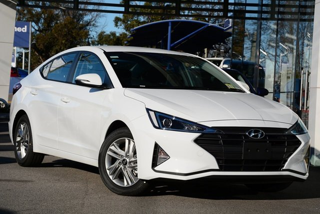 New Hyundai Elantra AD.2 MY19 Active, 2019 Hyundai Elantra AD.2 MY19 Active Polar White 6 Speed Sports Automatic Sedan