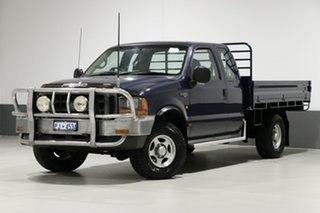 2002 Ford F250 RM XL Blue 5 Speed Manual Cab Chassis.