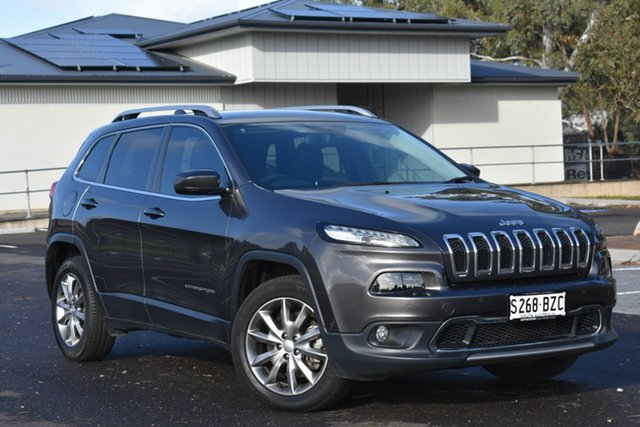 Used Jeep Cherokee KL MY17 Limited, 2017 Jeep Cherokee KL MY17 Limited Granite Crystal 9 Speed Sports Automatic Wagon