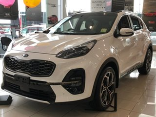 2018 Kia Sportage QL MY19 GT-Line AWD Clear White 8 Speed Sports Automatic Wagon