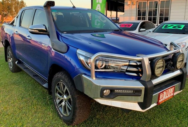 Used Toyota Hilux GUN126R SR5 Double Cab, 2016 Toyota Hilux GUN126R SR5 Double Cab Blue 6 Speed Sports Automatic Utility
