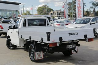 2016 Toyota Hilux TGN121R Workmate White 5 Speed Manual Cab Chassis.