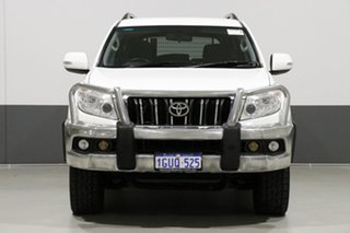 2013 Toyota Landcruiser Prado KDJ150R 11 Upgrade GXL (4x4) White 5 Speed Sequential Auto Wagon.