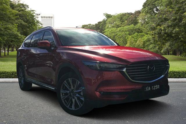 Demo Mazda CX-8 KG4W2A Asaki SKYACTIV-Drive i-ACTIV AWD, 2018 Mazda CX-8 KG4W2A Asaki SKYACTIV-Drive i-ACTIV AWD Soul Red 6 Speed Sports Automatic Wagon