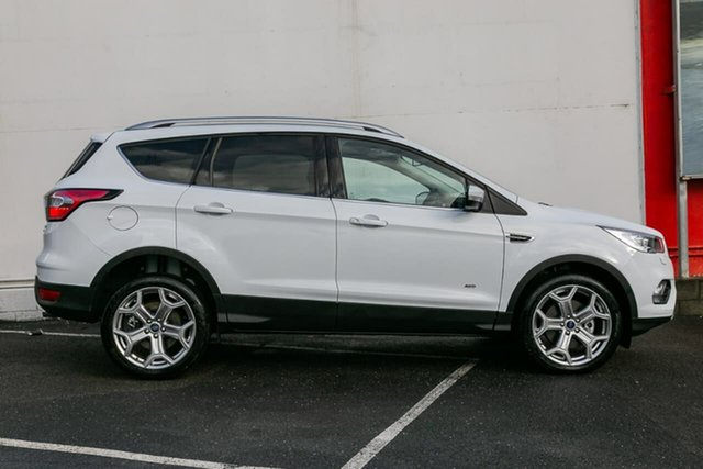 Used Ford Escape ZG 2018.75MY Titanium PwrShift AWD, 2018 Ford Escape ZG 2018.75MY Titanium PwrShift AWD White 6 Speed Sports Automatic Dual Clutch Wagon