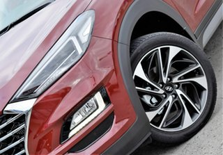 2018 Hyundai Tucson TL3 MY19 Highlander AWD Gemstone Red 8 Speed Sports Automatic Wagon.