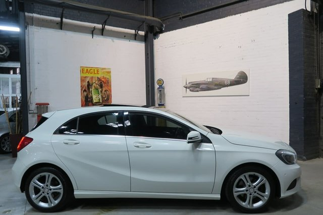 Used Mercedes-Benz A180 W176 D-CT, 2013 Mercedes-Benz A180 W176 D-CT White 7 Speed Sports Automatic Dual Clutch Hatchback