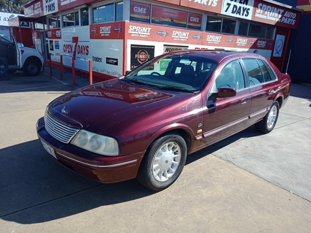 Used Ford Fairlane AU II Ghia, 2000 Ford Fairlane AU II Ghia Burgundy 4 Speed Automatic Sedan