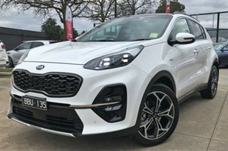2019 Kia Sportage QL MY19 GT-Line AWD Clear White 8 Speed Sports Automatic Wagon.