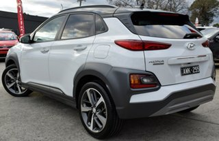 2018 Hyundai Kona OS.2 MY19 Highlander 2WD Chalk White & Black Roof 6 Speed Sports Automatic Wagon.