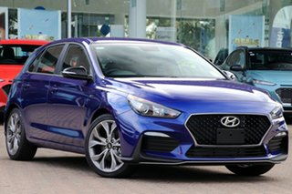 2020 Hyundai i30 PD.3 MY20 N Line Intense Blue 7 Speed Auto Dual Clutch Hatchback.