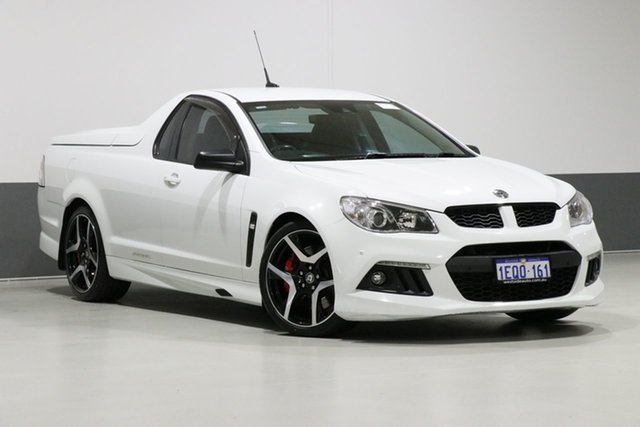Used Holden Special Vehicles Maloo Gen F R8, 2014 Holden Special Vehicles Maloo Gen F R8 White 6 Speed Automatic Utility