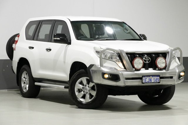 Used Toyota Landcruiser Prado KDJ150R MY14 GX (4x4), 2013 Toyota Landcruiser Prado KDJ150R MY14 GX (4x4) White 6 Speed Manual Wagon