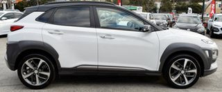 2018 Hyundai Kona OS.2 MY19 Highlander 2WD Chalk White & Black Roof 6 Speed Sports Automatic Wagon