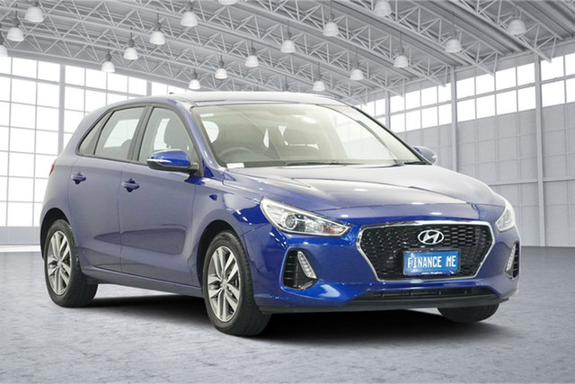 Used Hyundai i30 PD2 MY18 Active, 2018 Hyundai i30 PD2 MY18 Active Intense Blue 6 Speed Sports Automatic Hatchback