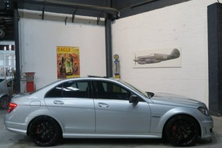 2012 Mercedes-Benz C63 W204 MY12 AMG SPEEDSHIFT MCT Performance Package Plus Silver 7 Speed.