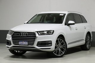 2017 Audi Q7 4M MY18 3.0 TDI Quattro (160kW) White 8 Speed Automatic Tiptronic Wagon.