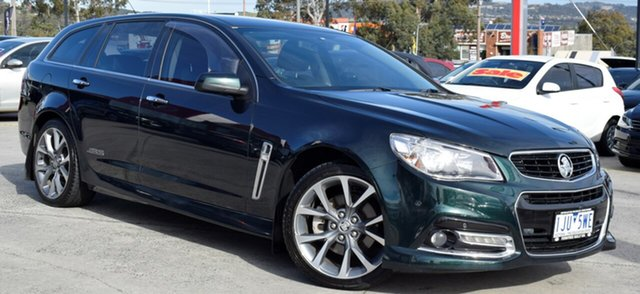 Used Holden Commodore VF MY14 SS V Sportwagon, 2013 Holden Commodore VF MY14 SS V Sportwagon Green 6 Speed Sports Automatic Wagon