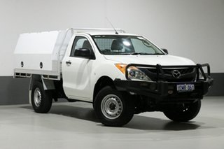 2014 Mazda BT-50 MY13 XT (4x4) White 6 Speed Manual Cab Chassis.