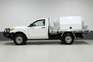 2014 Mazda BT-50 MY13 XT (4x4) White 6 Speed Manual Cab Chassis