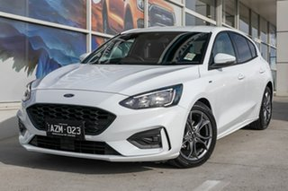 2019 Ford Focus SA 2019.25MY ST-Line White 8 Speed Automatic Hatchback.