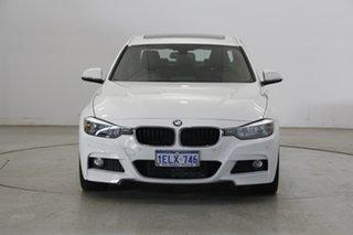 2014 BMW 3 Series F30 MY0813 328i M Sport White 8 Speed Sports Automatic Sedan.