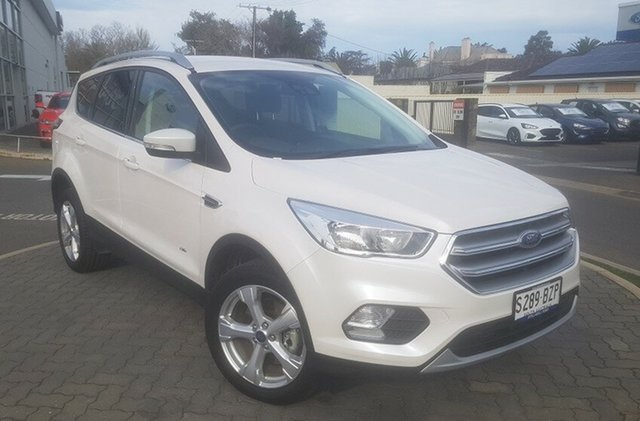 Demo Ford Escape ZG 2019.25MY Trend PwrShift AWD, 2018 Ford Escape ZG 2019.25MY Trend PwrShift AWD White Platinum 6 Speed Sports Automatic Dual Clutch
