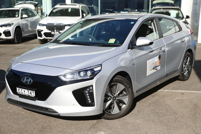 Demo Hyundai Ioniq AE.2 MY19 electric Premium, 2019 Hyundai Ioniq AE.2 MY19 electric Premium Platinum Silver 1 Speed Reduction Gear Fastback