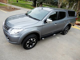 2016 Mitsubishi Triton MQ MY17 Exceed Double Cab Silver 5 Speed Sports Automatic Utility