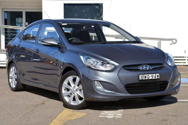 Used Hyundai Accent RB Active, 2011 Hyundai Accent RB Active Grey 4 Speed Sports Automatic Sedan