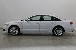 2014 Audi A6 4G MY15 S Line S Tronic Quattro White 7 Speed Sports Automatic Dual Clutch Sedan.