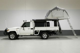 2014 Toyota Landcruiser VDJ79R MY12 Update GXL (4x4) White 5 Speed Manual Cab Chassis.