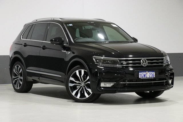 Used Volkswagen Tiguan 5NA 140 TDI Highline, 2017 Volkswagen Tiguan 5NA 140 TDI Highline Black 7 Speed Auto Direct Shift Wagon