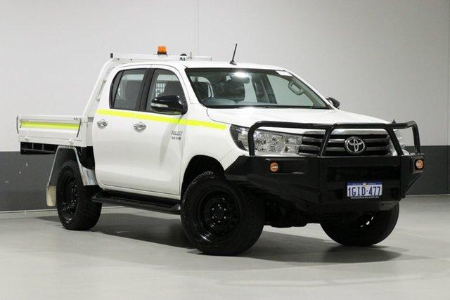 Used Toyota Hilux GUN126R SR (4x4), 2017 Toyota Hilux GUN126R SR (4x4) White 6 Speed Automatic Dual Cab Chassis