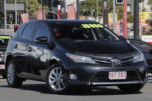 Used Toyota Corolla ZRE182R Ascent S-CVT, 2013 Toyota Corolla ZRE182R Ascent S-CVT Black/Grey 7 Speed Constant Variable Hatchback