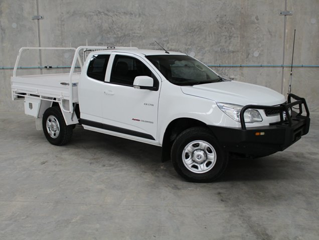 Used Holden Colorado RG MY14 LX Space Cab, 2014 Holden Colorado RG MY14 LX Space Cab White 6 Speed Sports Automatic Cab Chassis