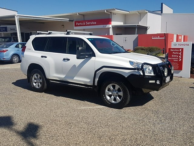 Used Toyota Landcruiser Prado KDJ150R 11 Upgrade GX (4x4), 2012 Toyota Landcruiser Prado KDJ150R 11 Upgrade GX (4x4) Glacier White 6 Speed Manual Wagon