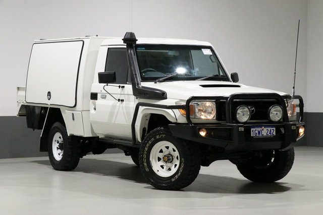 Used Toyota Landcruiser VDJ79R MY12 Update Workmate (4x4), 2013 Toyota Landcruiser VDJ79R MY12 Update Workmate (4x4) White 5 Speed Manual Cab Chassis