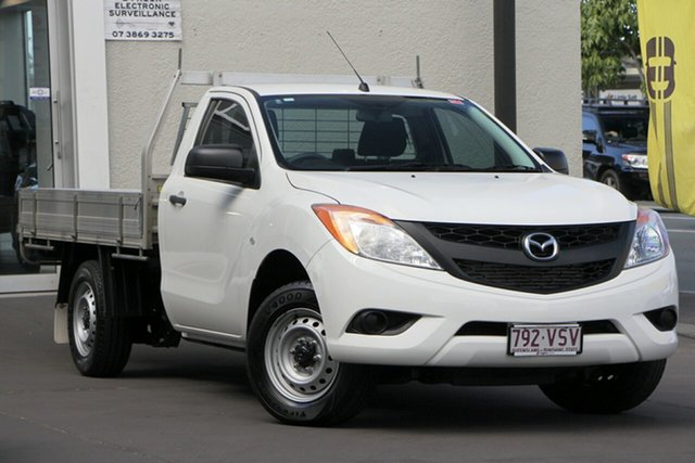 Used Mazda BT-50 UP0YD1 XT 4x2, 2015 Mazda BT-50 UP0YD1 XT 4x2 White 6 Speed Manual Cab Chassis