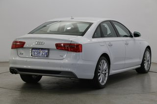 2014 Audi A6 4G MY15 S Line S Tronic Quattro White 7 Speed Sports Automatic Dual Clutch Sedan