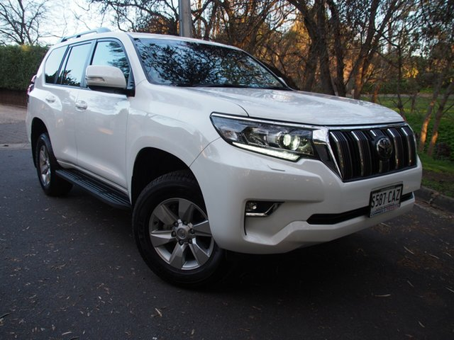 Demo Toyota Landcruiser Prado GDJ150R GXL, 2019 Toyota Landcruiser Prado GDJ150R GXL White 6 Speed Sports Automatic Wagon