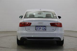 2014 Audi A6 4G MY14 Multitronic White 1 Speed Constant Variable Sedan