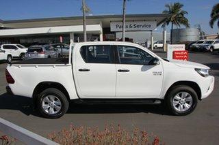 2017 Toyota Hilux GUN126R SR Double Cab Glacier White 6 Speed Sports Automatic Utility.