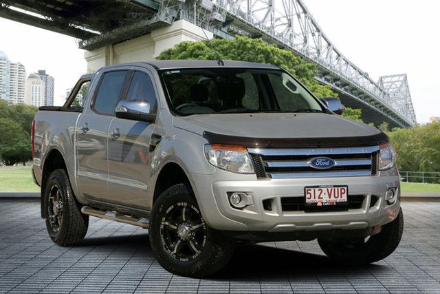 Used Ford Ranger PX XLT Double Cab, 2015 Ford Ranger PX XLT Double Cab Silver 6 Speed Manual Utility